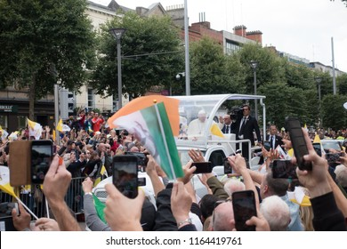 Dublin, Co. Dublin/ Ireland-25.08.2018/ Pope Francis in Dublin, Ireland