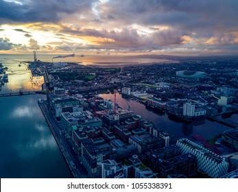 Dublin Docks by Drone, Ireland
