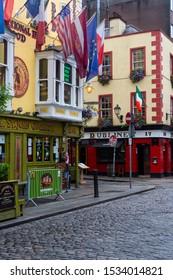 Dublin. Ireland. 06.26.16. Traditional Irish pubs in the Temple Bar area of Dublin in the Republic of Ireland.