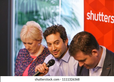 Dublin, Ireland - 12 May 2018: The opening of the new Shutterstock office in Dublin, Ireland