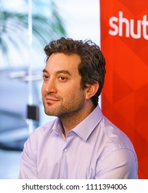 Dublin, Ireland - 12 May 2018: Jon Oringer at the opening of the new Shutterstock office in Dublin, Ireland