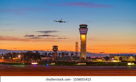 Dublin, Ireland 19-10-2019 Dublin Airport Visual Control Tower The new air traffic control tower at 87.7m high is Ireland's tallest occupied structure & is a commanding new addition to the city's skyl