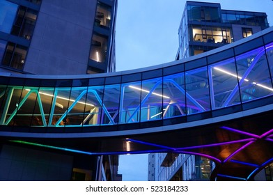 DUBLIN, IRELAND -2 NOV 2016- The European headquarters of American tech giant Google is located in four modern buildings on Barrow Street in the Irish Capital, in the historic dockland district.
