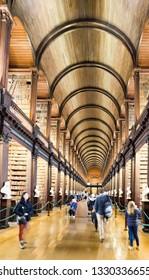 Dublin, Ireland- 2018-10-18 : Book of Kells at Trinity College