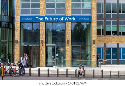 Dublin, Ireland, 21st June 2019. The offices of Wework, the co working office space company in Charlement Exchange, Charlemont Street, Dublin.