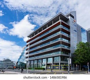 Dublin, Ireland, 23rd August 2019. The offices of Pricewaterhouse Cooper (PWC) at Spencer Docks on the North Quay of the River Liffey.
