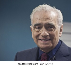 DUBLIN, IRELAND - 24 FEBRUARY 2017: Director of iconic films such as Goodfellas, Shutter Island and Hugo, Martin Scorsese, before he speaks to students at Trinity College, Dublin.