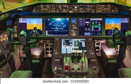 Dublin, Ireland 25.8.2018 Boeing 787 Dreamliner, Dublin Airport Unidentified Boeing employees continue work building a Boeing 787 jets