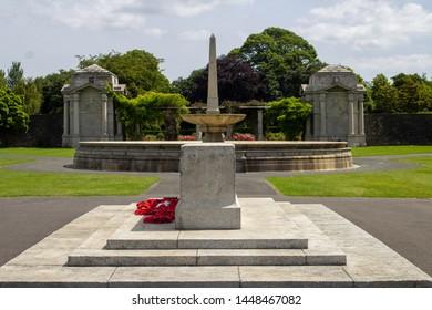 Dublin, Ireland, 4th July 2019, The Irish National War Memorial Gardens in Islandbridge, Dublin. Designed by Sir Edwin Lutyens as a memorial to those Irish men and women who fought in WW1.