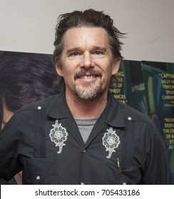 DUBLIN, IRELAND - 5 AUGUST 2017: Acclaimed actor, writer and director Ethan Hawke poses for the press after a screening of his latest film, 'Maudie', in the Lighthouse Cinema, Dublin.