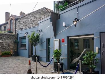 Dublin, Ireland, 6th September 2019. L'Ecrivain Restaurant in Lower Baggot Street, a fine dining Michelin starred restaurant.One of Ireland's best known restaurants it has been in business 30 years.