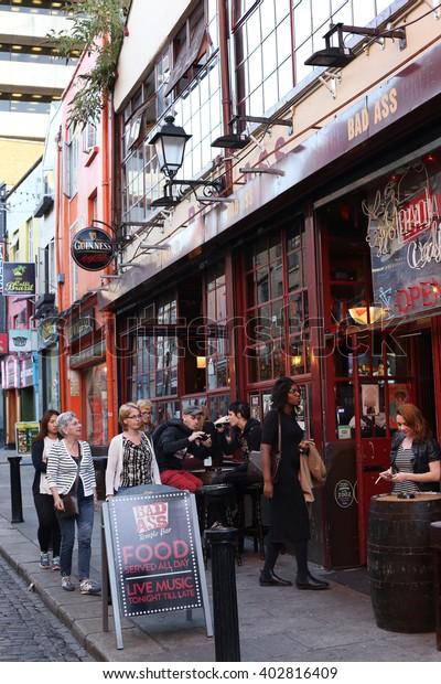 Dublin Ireland 9 September Entertainment District Stock