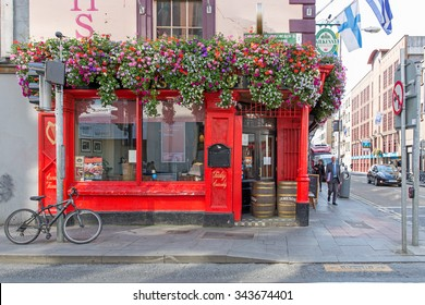 DUBLIN, IRELAND - AUGUST 13, 2015: T.P.Smiths public house. It is part of the Smith Pub Group which has pubs in Dublin.