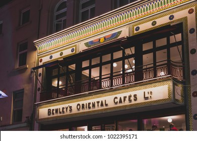 DUBLIN, IRELAND - February 10th, 2018: the newly reopened Bewley's Oriental Cafe on Grafton Street in Dublin