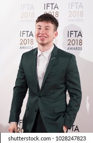 DUBLIN, IRELAND - FEBRUARY 15 2018: Irish actor Barry Keoghan attends the Irish Film and Drama Awards at the Mansion House. Barry won Best Supporting Actor for Film on the night.