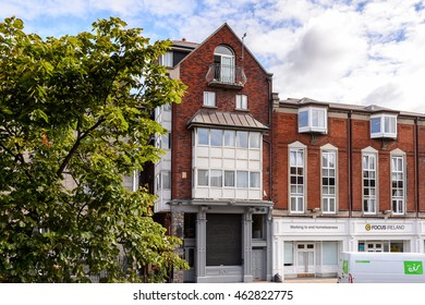 DUBLIN, IRELAND - JULY 12, 2016: Street and Architecture of Dublin, the capital and largest city of Ireland.