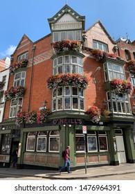 DUBLIN, IRELAND - JULY  2019 - Famous O'Neill's Irish Pub & Restaurant in Dublin City Center