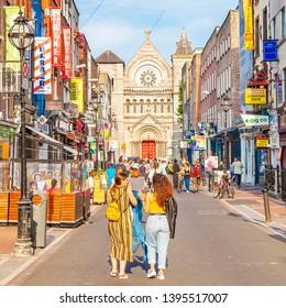 DUBLIN, IRELAND - June 17, 2018: South Anne Street and St Ann's Church view