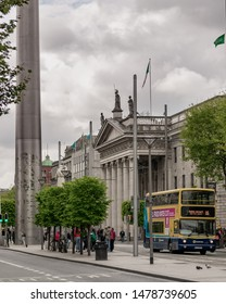 Dublin, Ireland / June 2019 GPO (general post office), historical bilding in Dublin's city center.