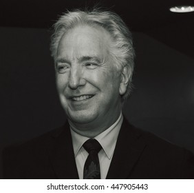 DUBLIN, IRELAND - MARCH 2015: Actor Alan Rickman attends the premiere of his latest film, A Little Chaos, at the Jameson Dublin International Film Festival.