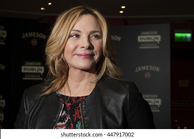 DUBLIN, IRELAND - MARCH 2015: Actress Kim Cattrall attends the Jameson Dublin International Film Festival to promote her latest television series, Sensitive Skin.