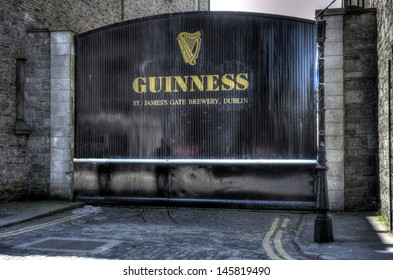 DUBLIN, IRELAND - MAY 25: a gate at the Guinness Storehouse on May 25, 2013 in Dublin, Ireland. The Guinness Storehouse is a popular tourist attraction with 1,087,209 visitors in 2012