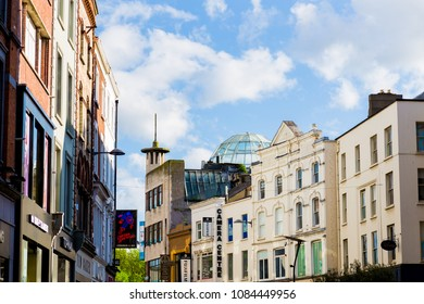 DUBLIN, IRELAND - May 5st, 2018: architectural details in Grafton Street in Dublin city centre