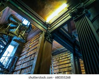 DUBLIN, IRELAND - NOVEMBER 05, 2013: Trinity college library. Dublin, Ireland