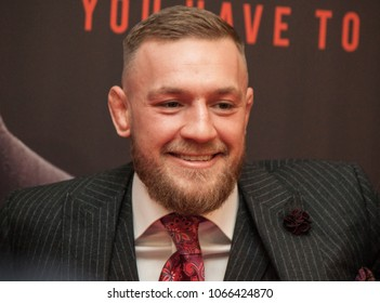 "DUBLIN, IRELAND - NOVEMBER 2017: UFC and MMA fighter, Conor ""The Notorious"" McGregor at the Irish premiere of the documentary about his rise within the ranks of MMA fighting."