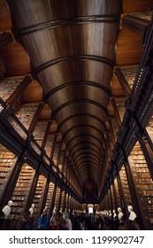 Dublin, Ireland. October 2, 2018. Trinity college library.