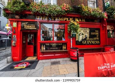 Dublin, Ireland. October 2, 2018. Famous Temple Bar