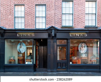 DUBLIN, IRELAND  OCTOBER 25, 2014: A Links of London jewellery outlet. Links of London was founded in 1990 and now has stores in the UK, Hong Kong, USA and Canada.