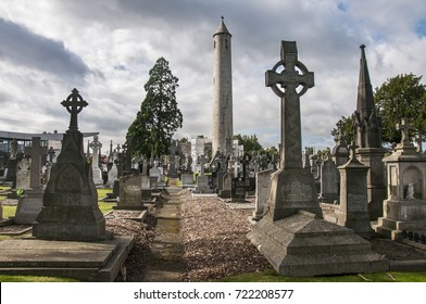 DUBLIN. IRELAND - September 09 ,2017 :  Daniel O'Connell's Round Tower on Glasnevin Cemetery