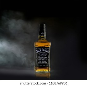 Dublin, Ireland - SEPTEMBER 14, 2018: Jack Daniel's American whiskey produced by the Jack Daniel Distillery.