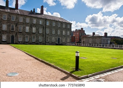 DUBLIN. IRELAND - September 17 , 2017: The National Museum of Ireland's Decorative Arts and History exhibition in Collins Barracks