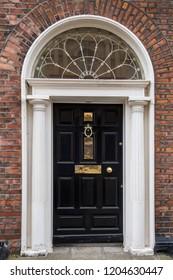 Dublin, Ireland. Taken 10-4-18. Dublin Georgian house door number 29 in black