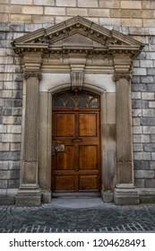 Dublin, Ireland. Taken 10-4-18. Trinity College Library door.
