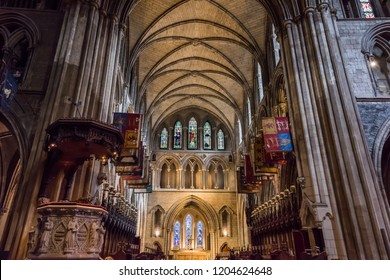 Dublin, Ireland. Taken 9-30-18. Saint Patrick's Cathedral main hall.