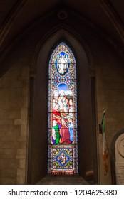 Dublin, Ireland. Taken 9-30-18. Saint Patrick's Cathedral single stain glass window.