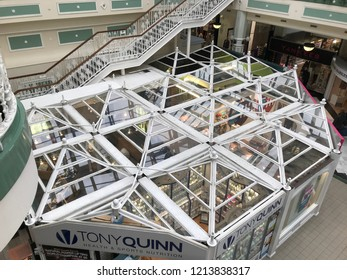 DUBLIN - OCTOBER 21: Views of the Stephen's Green Shopping Centre located at the top of Grafton Street in the Southside of Dublin City, Ireland on October 21, 2018