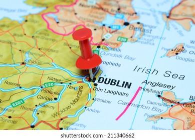 Dublin On Map Of Ireland.Dublin Map Images Stock Photos Vectors Shutterstock