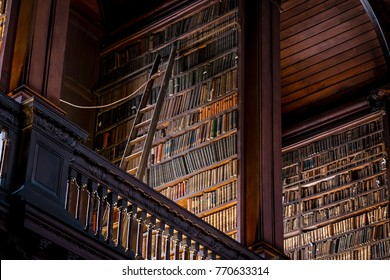 Dublin Scotland - December 11 2014 - The Library of Trinity College Dublin serves Trinity College and the University of Dublin. It is the largest library in Ireland and as a legal deposit.