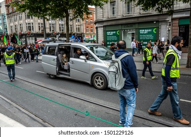 Dublin,Ireland, September 7-2019Ya Hussain dublin protest.  Ya Hussain is an Arabic phrase used by Muslims to invoke the memory or intervention of Hussain ibn Ali. Dublin city center muslim protest.
