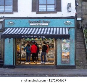 Dublin,Ireland,04/09/2018. Beshoff's Bros.Fish and Chip shop in Howth,Co.Dublin.