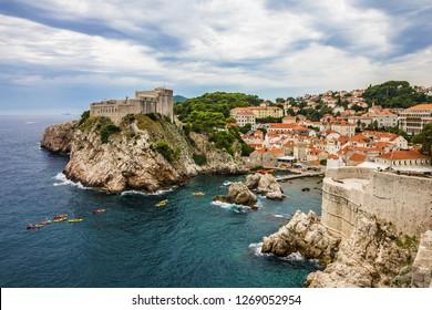Dubrovnik ancient fortress architecture, Croatia