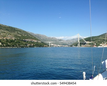 Dubrovnik bridge view from the boat