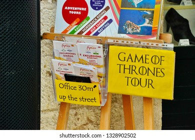 Dubrovnik, Croatia -10-15-2014: Game of Thrones Tour Dubrovnik. Take a tour and see where the best scenes at the King's Landing were filmed.
