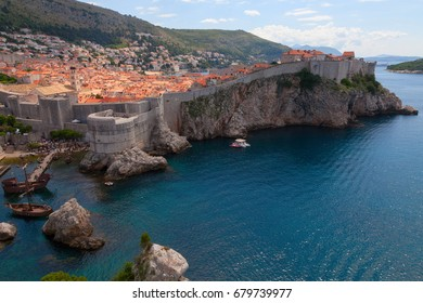 Dubrovnik, Croatia, 3 July 2016: Game of Thrones Filming Location in old city center.