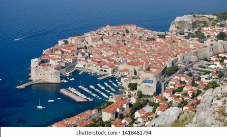 DUBROVNIK, CROATIA - AUGUST 18, 2009: Dubrovnik was the main filming location in Croatia for HBO's fantasy epic King's Landing in the TV show Game of Thrones, Robin Hood and Star Wars: The Last Jedi.