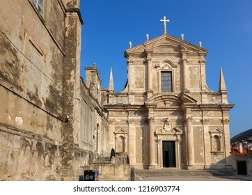 Dubrovnik, Croatia, August 2, 2018: St Ignatius of Loyola Church in Dubrovnik, Croatia